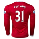 Manchester United 15/16 FELLAINI LS Home Soccer Jersey