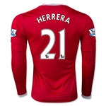 Manchester United 15/16 HERRERA LS Home Soccer Jersey