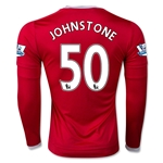 Manchester United 15/16 JOHNSTONE LS Home Soccer Jersey