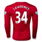 Manchester United 15/16 LAWRENCE LS Home Soccer Jersey