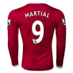 Manchester United 15/16 MARTIAL LS Home Soccer Jersey