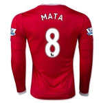 Manchester United 15/16 MATA LS Home Soccer Jersey