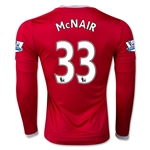 Manchester United 15/16 MCNAIR LS Home Soccer Jersey