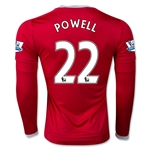 Manchester United 15/16 POWELL LS Home Soccer Jersey