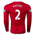 Manchester United 15/16 RAFAEL LS Home Soccer Jersey