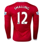 Manchester United 15/16 SMALLING LS Home Soccer Jersey