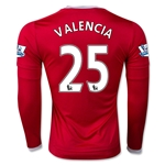 Manchester United 15/16 VALENCIA LS Home Soccer Jersey