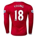 Manchester United 15/16 YOUNG LS Home Soccer Jersey