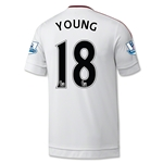 Manchester United 15/16 YOUNG Away Soccer Jersey