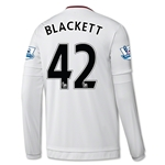 Manchester United 15/16 BLACKETT LS Away Soccer Jersey