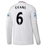Manchester United 15/16 EVANS LS Away Soccer Jersey