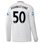 Manchester United 15/16 JOHNSTONE LS Away Soccer Jersey