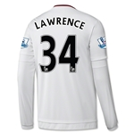 Manchester United 15/16 LAWRENCE LS Away Soccer Jersey