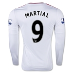 Manchester United 15/16 MARTIAL LS Away Soccer Jersey