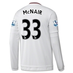 Manchester United 15/16 McNAIR LS Away Soccer Jersey