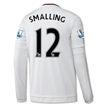 Manchester United 15/16 SMALLING LS Away Soccer Jersey