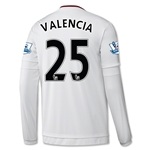 Manchester United 15/16 VALENCIA LS Away Soccer Jersey