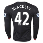 Manchester United 15/16 BLACKETT LS Third Soccer Jersey