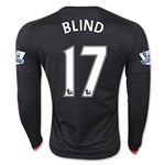 Manchester United 15/16 BLIND LS Third Soccer Jersey