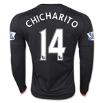 Manchester United 15/16 CHICHARITO LS Third Soccer Jersey