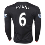 Manchester United 15/16 EVANS LS Third Soccer Jersey