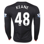 Manchester United 15/16 KEANE LS Third Soccer Jersey
