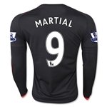 Manchester United 15/16 MARTIAL LS Third Soccer Jersey