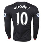 Manchester United 15/16 ROONEY LS Third Soccer Jersey