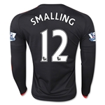 Manchester United 15/16 SMALLING LS Third Soccer Jersey