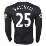 Manchester United 15/16 VALENCIA LS Third Soccer Jersey