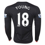 Manchester United 15/16 YOUNG LS Third Soccer Jersey