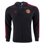 Manchester United 3-Stripe Full-zip Hoody