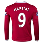 Manchester United 15/16 MARTIAL LS Youth Home Soccer Jersey