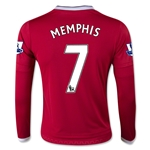Manchester United 15/16 MEMPHIS LS Youth Home Soccer Jersey