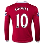 Manchester United 15/16 ROONEY LS Youth Home Soccer Jersey