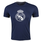 Real Madrid Crest T-Shirt (Navy)