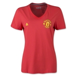 Manchester United Women's Crest T-Shirt