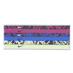 Nike Printed Headband Assorted 6 Pack 15 (Ro/Fu)
