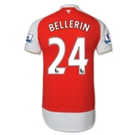 Arsenal 15/16 BELLERIN Authentic Home Soccer Jersey