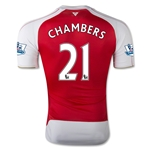 Arsenal 15/16 CHAMBERS Authentic Home Soccer Jersey