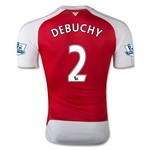 Arsenal 15/16 DEBUCHY Authentic Home Soccer Jersey