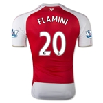 Arsenal 15/16 FLAMINI Authentic Home Soccer Jersey