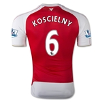 Arsenal 15/16 KOSCIELNY Authentic Home Soccer Jersey