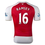 Arsenal 15/16 RAMSEY Authentic Home Soccer Jersey