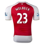 Arsenal 15/16 WELBECK Authentic Home Soccer Jersey