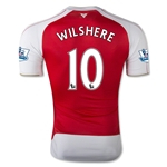 Arsenal 15/16 WILSHERE Authentic Home Soccer Jersey