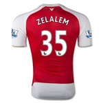 Arsenal 15/16 ZELALEM Authentic Home Soccer Jersey