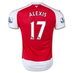 Arsenal 15/16 ALEXIS Home Soccer Jersey