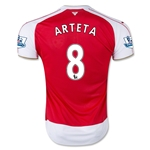 Arsenal 15/16 ARTETA Home Soccer Jersey
