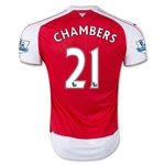 Arsenal 15/16 CHAMBERS Home Soccer Jersey